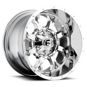 4 20x10 Fuel D516 Chrome Krank Wheels 6x135 And 6x139.7 For Ford Toyota Jeep