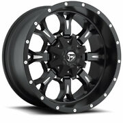 4 20x9 Fuel Matte Black And Mill Krank Wheels 6x135 And 6x139.7 For Toyota Jeep