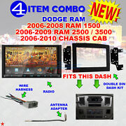 06 07 08 09 10 Dodge Ram Car Stereo Radio Double Din Install Dash Panel Kit 13