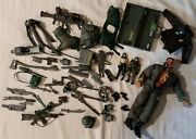 Vintage Toy Military 12 Action Figure Lot Accessories Cameras Bombs Canteens ++