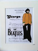 The Beatles - George Harrison - Yellow Submarine - Hand Drawn And Hand Painted Cel