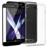 Ultra-thin Screen Protector W/ Tpu Case Cover For Xfinity Mobil Lg X Charge M322