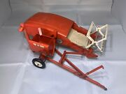 Vintage Carter Tru-scale C-406 Toy Combine Pull-type Reaper Red