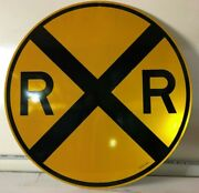 Railroad R R Crossing Sign New - Ultra Rare Authentic Large 36 Vintage Original