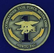 Usn Commander Task Force Seven One Seal Nswtu Pac Challenge Coin M-1