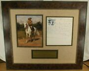 William 'buffalo Bill' Cody Showman Autograph Letter Display Jsa Authenticated