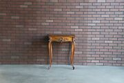 Antique French Game Table Louis Xv Style Carved Handkerchief Table