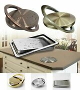 Recessed Built-in Balance Swing Flap Trash Bin Lid Cover Counter Top Garbage Can
