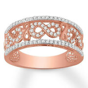 Christmas 2.06ct Natural Round Diamond 14k Solid Rose Gold Band Ring