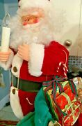 Vintage Christmas Animated Motionette Santa Claus 2andrsquo Light Up Candle Musical