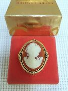 Estee Lauder Coral Cameo Vintage Compact For Solid Perfume In Orig Box 1986 Rare