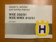 Husqvarna 1991 Wxe-wmx 350/610 Owners, Service And Tuning Manual Oem 800068040 Nos
