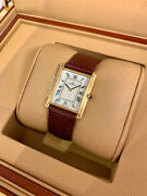Movado Vintage Circa 1980and039s Mens White Dial - 18kt Yellow Gold Mechanical