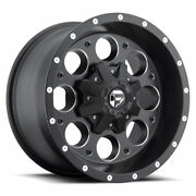 4 17x9 Fuel Matte Black And Mill Revolver Wheels 6x135 6x139.7 For Toyota Jeep
