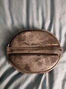 1942 Us Army Usmc Soldiers Steel Mess Kit Set With Us Silverware