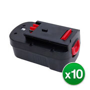 10x Replacement For Black And Decker Hpb18-ope Power Tool Battery 18v 3000mah
