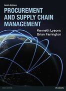 Procurement And Supply Chain Management 9e Global Edition
