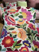 Kim Parker Designer Floral 6x4 Hand Woven Wool Rug From India