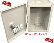 Metal Box Hinged Lid Electrical Sheet Storage Outdoor Outlet Junction Tool Box