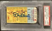 Don Larsen Signed Perfect Game Ticket 10/8/1956 Ws Mvp Psa Dna Autograph Mantle