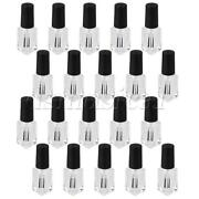 Clear Empty Wide Brush Nail Polish Glass Glue Bottle 4ml Pack Of 20