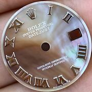 Rolex Lady Datejust 26 Case Tahitian Mother Of Pearl Roman Numeral Dial Original