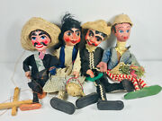 Lot X4 Vintage 50s 60s Mexican Maxico Puppets Marionettes Nice