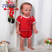 22'' Full Silicone Reborn Girl Dolls Root Hair Baby With Skeleton Xams Gift Toys