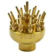 2and039and039 3 Layer Water Fountain Nozzle 17 Sprinkler Adjustable Brass Spray Head In Us