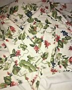 Waverly Pleasant Valley Harrison Window Valance Grapes Flowers .79andrdquo X 30andrdquo Long