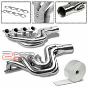 Chevy Big Block 496 V8 Mag Stainless Header+aluminum Exhaust Manifold Heat Wrap