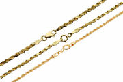 14k Yellow Gold 1.5mm-2.5mm Italy Rope Chain Twist Link Necklace 16-30