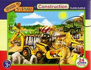 Construction Site 2x3 Foot Large Floor Puzzle 24 Jumbo Piece By Wood N Things