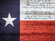 Texas State Song | Canvas Or Framed Rustic Texas Flag Art