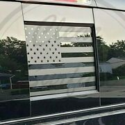 Fits Dodge Ram 2009-2021 Rear Back Middle Window American Flag Decal Sticker