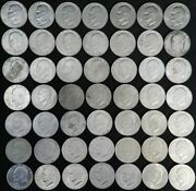 1972 Eisenhower Ike Dollar Coins - Type 3 - Circulated Lot Of 49