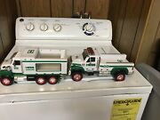 Lot Of Two Hess Vehicles Gas Trucks Lights Sound Green White 2008