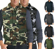 Menand039s Multi Pocket Premium Military Tactical Hunting Fishing Utility Zip Up Vest