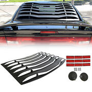 Abs Rear Window Louver Cover Sun Shade Vent For Dodge Charger 2011-2021 2020