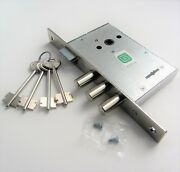Mortise High Security Deadbolt Lever Lock 3 Bolts And Latch Metal Door Safe Handle