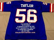 N.y. Giants Lawrence Taylor Autograph Authentic Jersey Inscriptions 56/56 C.o.a.