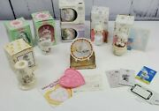 Lot Of 9 - Precious Moments Retired Members Figurines Mugs Candle Bell Plate