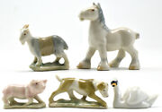 Wade Whimsies Set 10 1959 Farm Animals Production 1 Year Rare