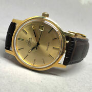 Omega Seamaster 1974 Auto Date 18k Gold Menand039s Watch / Unisex Size 34 Mm