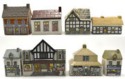 Wade Whimsey-on-why Set 4 Complete Set Of 8 Rare. 1984 With Map Display