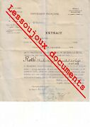 Ww1 French Official War Document 1914/19 Signed Georges Clemenceau