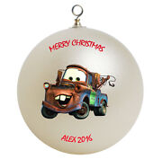 Personalized Cars Tow Mater Christmas Ornament Gift Add Childs Name Here