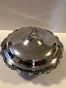 Wm Rogers Silver Plated Bowl With Lid Size 10 Tarnished Good