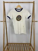 Vtg 70s Cookie Power Tarheel Triad Girl Scout Council Ringer T-shirt Size S Usa