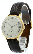 Vintage Longines 18k Yellow Gold Round Manual Wind 35mm Menand039s Watch
